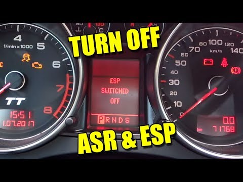 How to Turn Off ASR and ESP on Audi TT Mk2 VW Seat Škoda