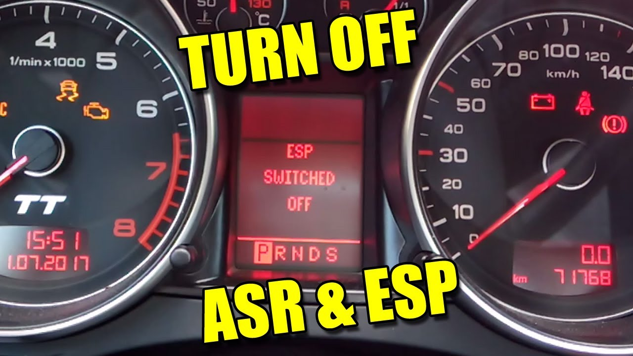 How to Turn Off ASR and ESP on Audi TT Mk2 VW Seat Škoda - clipzui.com