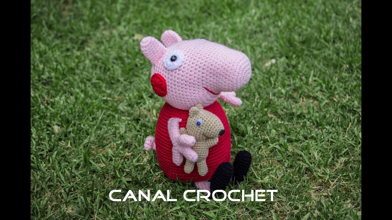 Peppa Pig y su osito amigurumi tutorial. - YouTube