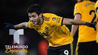 Raúl Jiménez, extático tras su doblete contra el West Ham de Javier Hernández | Telemundo Deportes