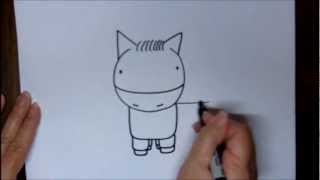 How To Draw A Horse Step By Step For Beginners Cartoon Drawing Lesson For Children