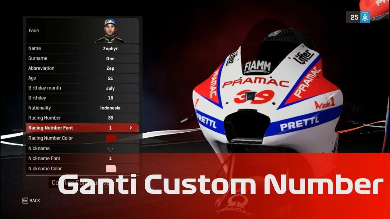 Tutorial Ganti Custom Number MotoGP18