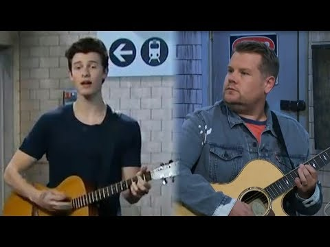 Shawn Mendes SLAYS James Corden in a Subway Cover Battle & Performs With Julia Michaels