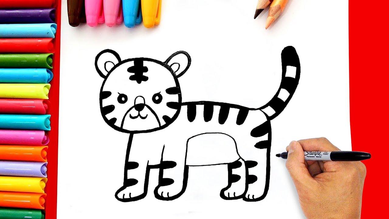 Vẽ tranh con hổ đơn giản – Cách vẽ con hổ đơn giản – Dạy bé vẽ con hổ đơn giản | Tóm tắt những tài liệu liên quan đến hoc ve tranh thieu nhi chuẩn nhất