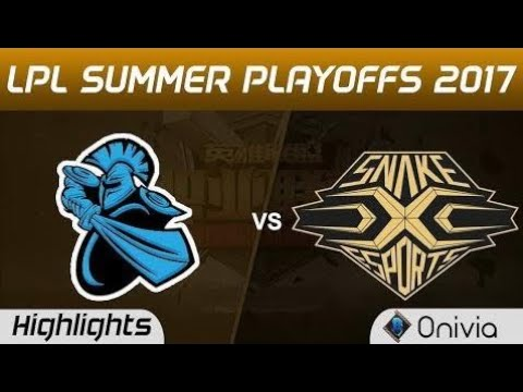 New  NB vs SS Highlights Game 2 LPL SUMMER PLAYOFFS 2017 NewBee vs Snake by Onivia