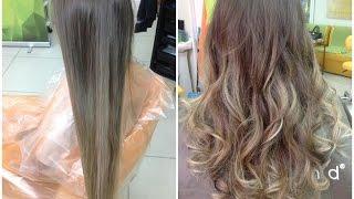 видео колорирование на белые волосы