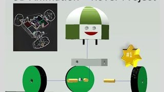 Inventor| Omni wheel 3D animation