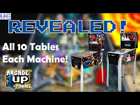Breaking! Complete Arcade1up Pinball Table List For All 3 Tables! from Unqualified Critics