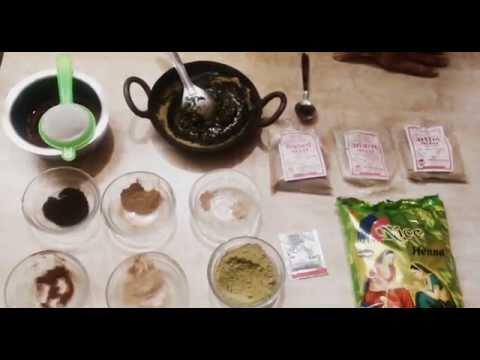 Easy Herbal Henna Paste / Dye for Beautiful Black Hair