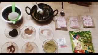 easy herbal henna paste dye for beautiful black hair