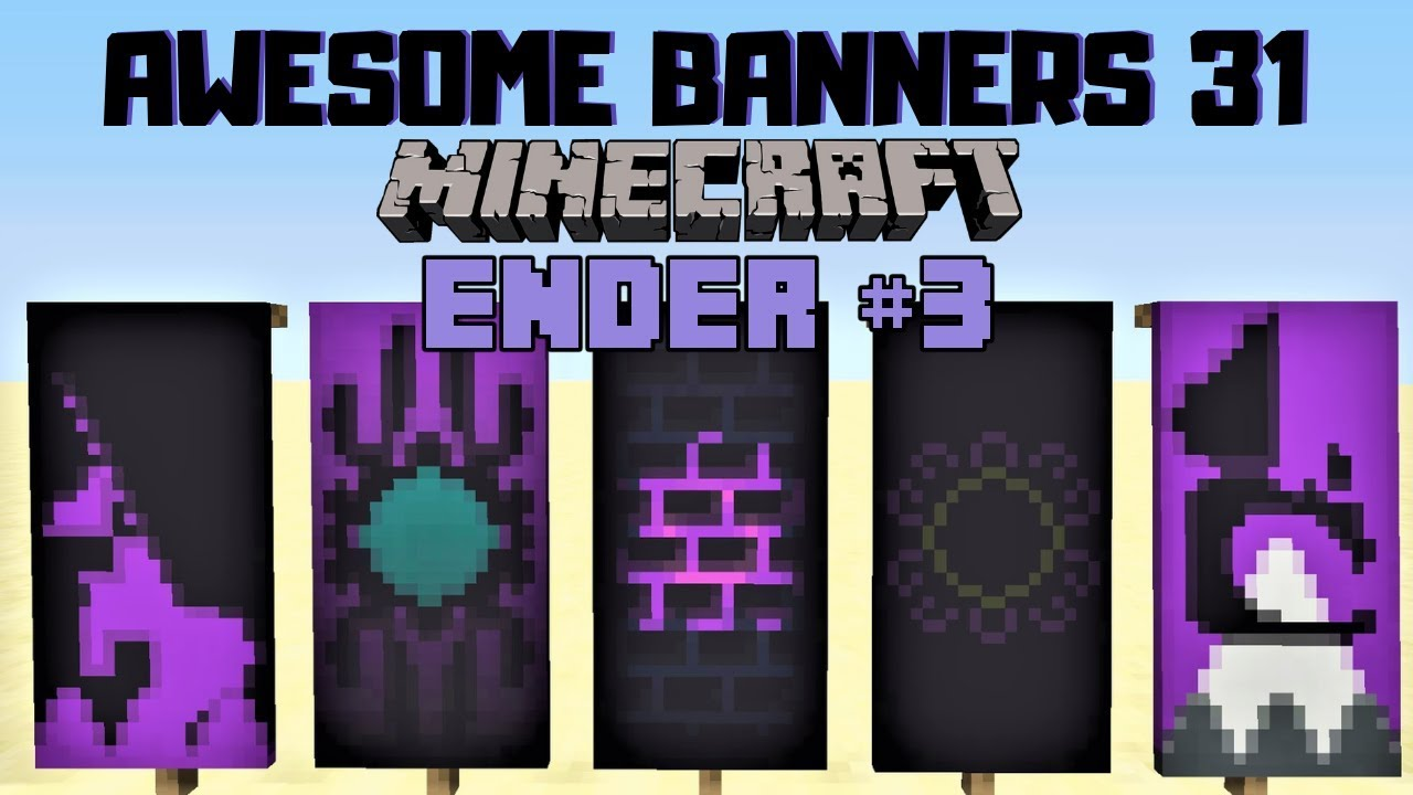 5 Awesome Minecraft Banner Designs With Tutorial 31 Youtube