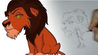 Cómo dibujar a Scar Chibi (El Rey León)