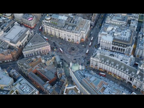 4K London - Capital City, London from above