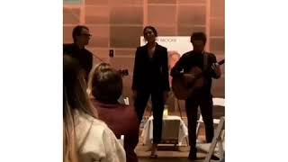 Mandy Moore singing Save A Little For Yourself at the listening party of #SilverLandings yester