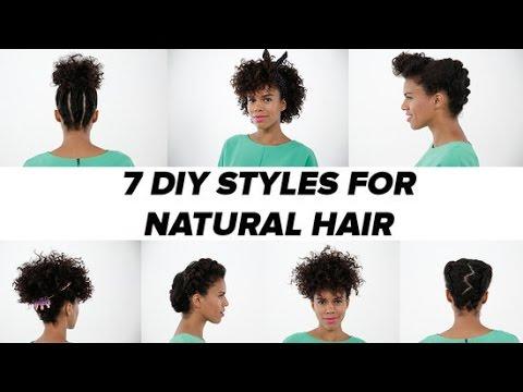 natural hair - 7 diy ideas tutorial