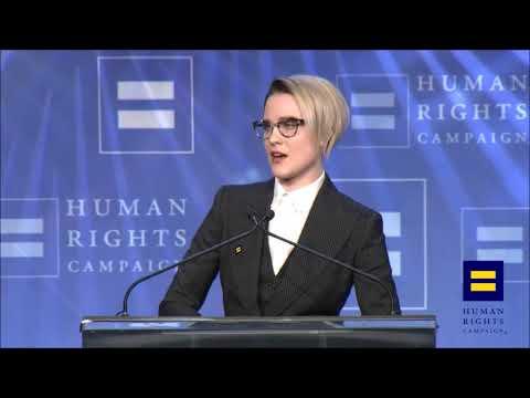 evan rachel wood coming out as bisexual hrc speech
