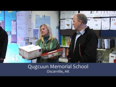 Qugcuun Memorial School in Oscarville