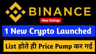 New Cryptocurrency listed on binance | New Crypto listings on Binance | Binance listed new Crypto |