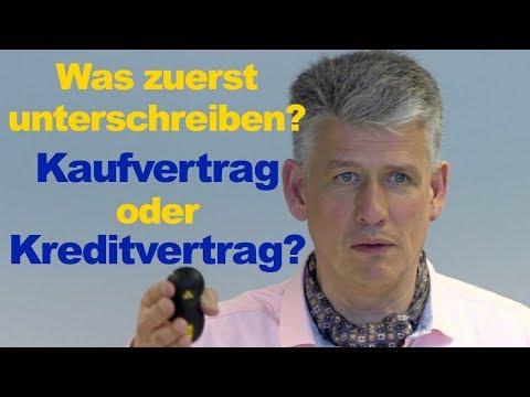 Darlehensvertrag Oder Kaufvertrag Was Zuerst Unterschreiben Unabhängiger Finanzberater Aus Hamburg