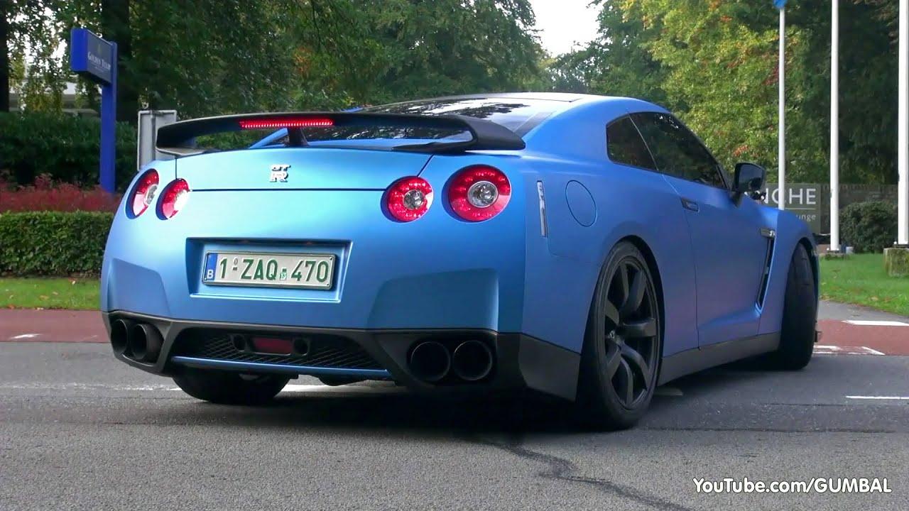 Matte Blue Nissan R35 Gt R Milltek R8 V10 Spyder E92