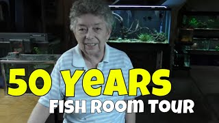 What She Keeps in Her Fish Room after 50 Years in the Hobby
