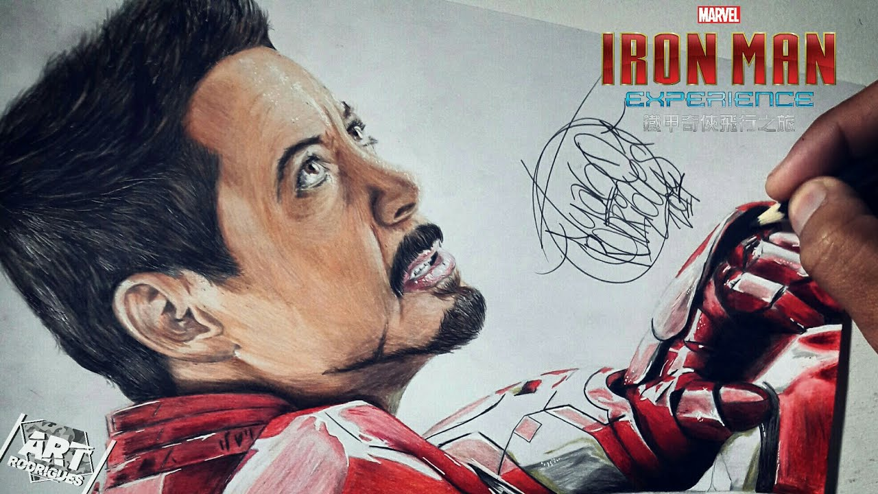 Desenhando O Homen De Ferro Drawing Iron Man Tony Stark