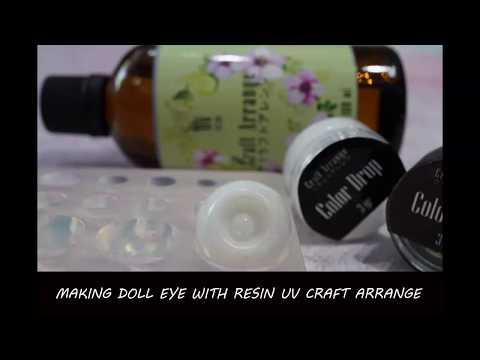 Making a BJD doll eye base by resin casting