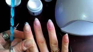 Как наращивать ногти?Салфеточное наращивания ногтей.Как нарастить ногти без форм дома?Легко!