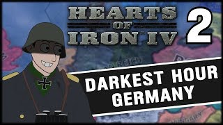 WW2 BEGINS! Hearts of Iron 4 Darkest Hour Germany Campaign Mod Part 2