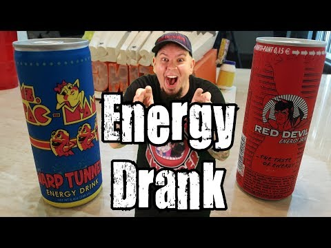 Energy Drank - Ms. Pac Man Warp Tunnel Energy Drink Vs Red Devil Energy Drink
