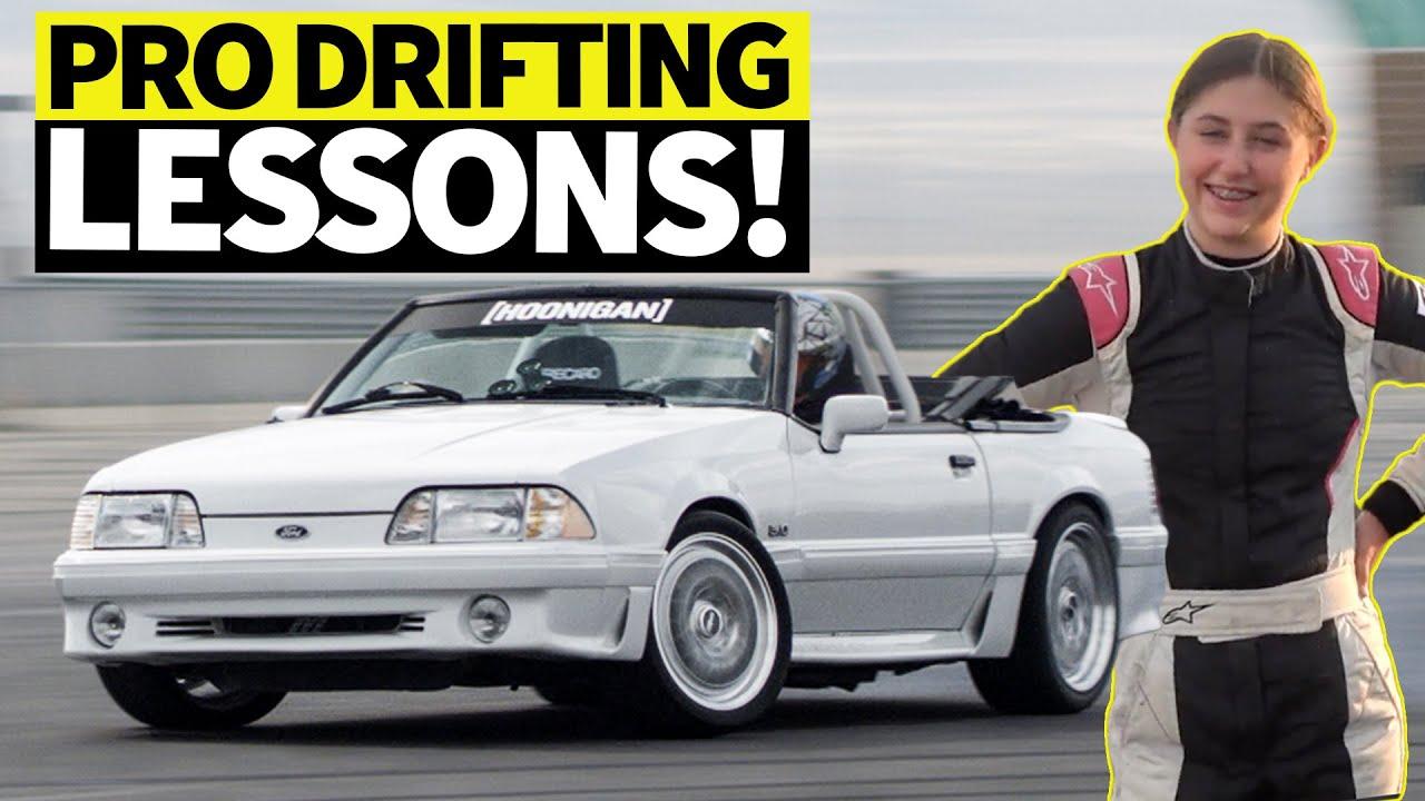 Ken Block's 14y/o Daughter Gets Drift Lessons from Formula Drift Champ -Vaughn Gittin Jr.