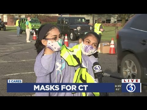 VIDEO: New Milford Sisters Help Out At Masks For CT Event In Honor Of Denise D'Ascenzo