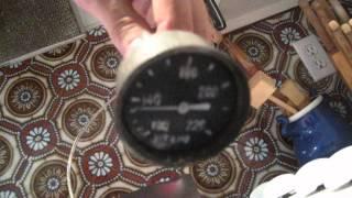 MB temperature gauge repair test