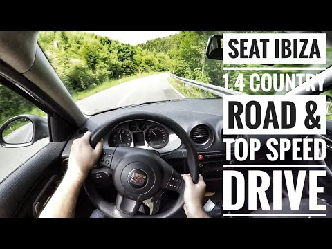 Seat Ibiza (6L) 1.4 (2009) - POV Country Road and Autobahn Drive - Top Speed Drive