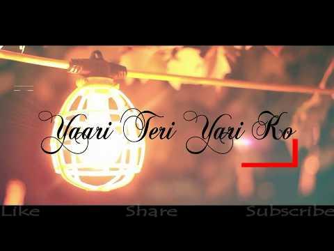 yaara-teri-yaari-ko---rahul-jain- -tere-jaisa-yaar-qahan- -yaaran- nitin-kushwah- -cover