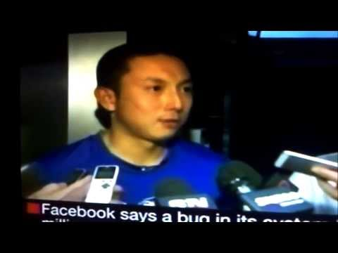 Munenori Kawasaki post-game media scrum 21.06.2013