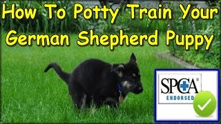 ++ How To Potty Train My German Shepherd Puppy ♥START TODAY♥ German Shepherd Potty Training Tips :)