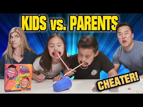 KIDS VS. PARENTS CHALLENGE!!! Watch Ya' Mouth THROWDOWN EDITION! Family Game Night
