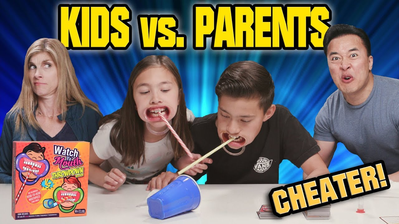 KIDS VS. PARENTS CHALLENGE!!! Watch Ya Mouth THROWDOWN EDITION! Family Game Night
