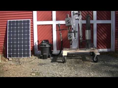 Gasifier Starting Ejector Running On Solar Power