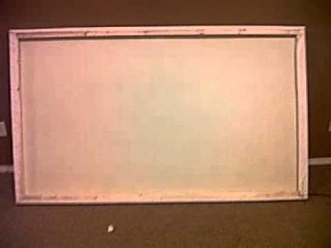 How To Build A Projector Screen For Cheap Youtube
