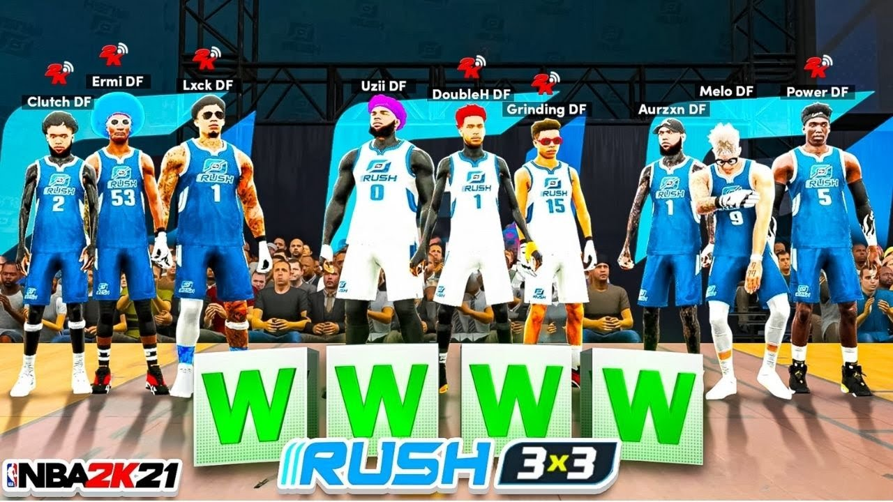 FIRST EVER DF 3V3 RUSH ROYALE RACE! Which DF fantasy team can win 3v3 RUSH 1st in NBA2K21?