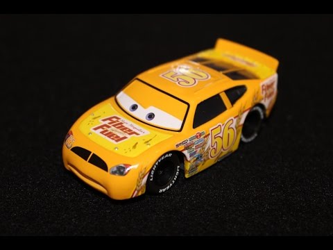 Mattel Disney Cars Fiber Fuel 56 Brush Curber Piston Cup Racer Cast