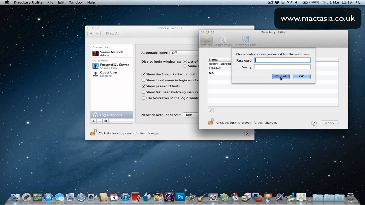How to Enable/Disable the Root User in Mac OS X Lion 10 7
