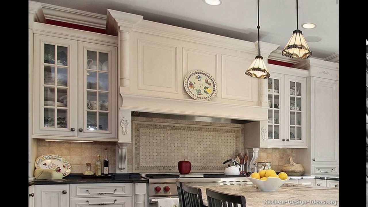 Wooden kitchen hood designs - YouTube