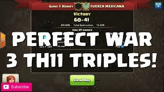 Clash of Clans: PERFECT WAR, 3 x TH11 TRIPLES, WAR RECAP | Mister Clash
