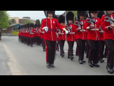 The 1st Battalion Welsh Guards Marching through Presteigne, Powys