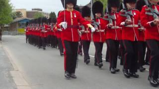 The 1st Battalion Welsh Guards Marching through Presteigne, Powys