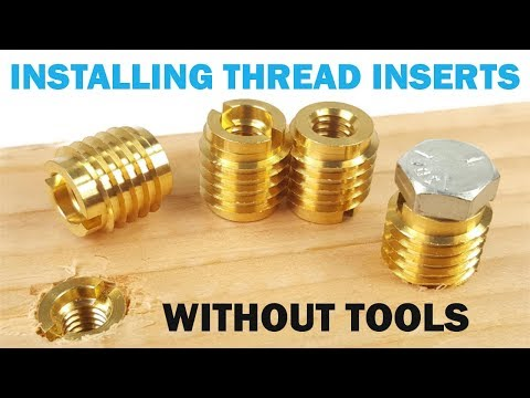 Installing Threaded Inserts in Wood Without Special Tools | Quick Tips
