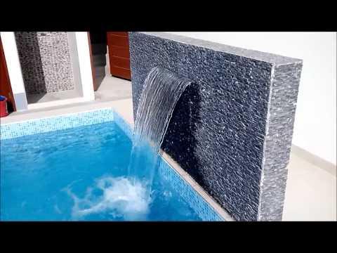 Cascadas caidas de agua en piscinas youtube for Cubas de agua para llenar piscinas